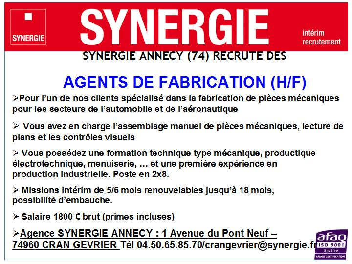 affiche Agent fabrication