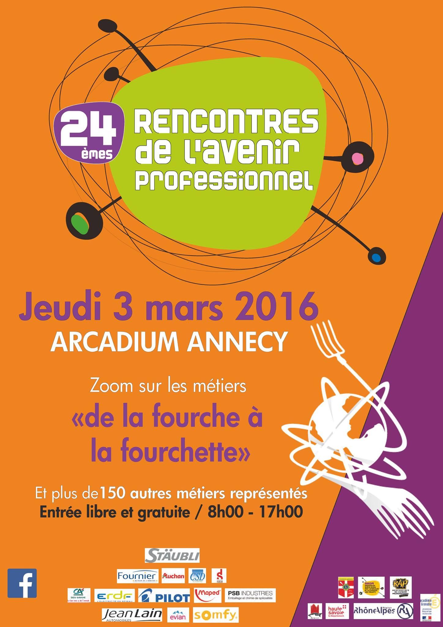 Les 24 mes rencontres de l avenir professionnel rap for La fourchette annecy